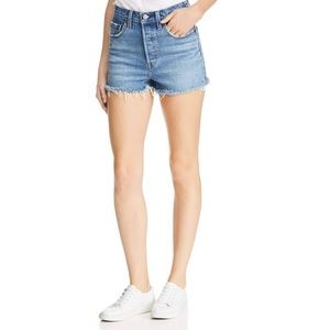 Levi's 501 Button Fly Embroidered Cutoff Shorts 27